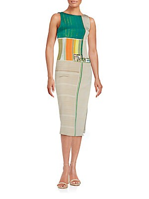 Silk Blend Sleeveless Dress