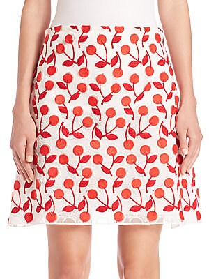 Cherry-Print Skirt