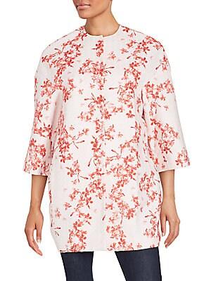 Floral Cotton-Blend Floral Jacket