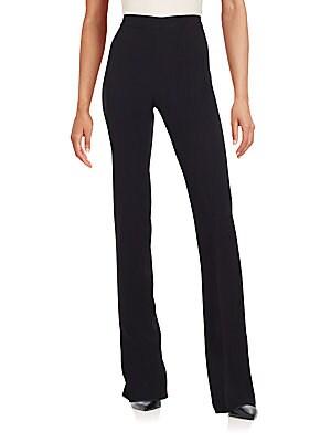 High-Waist Solid Pants