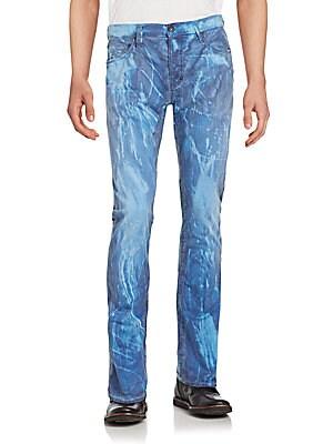 Splatter Five-Pocket Jeans