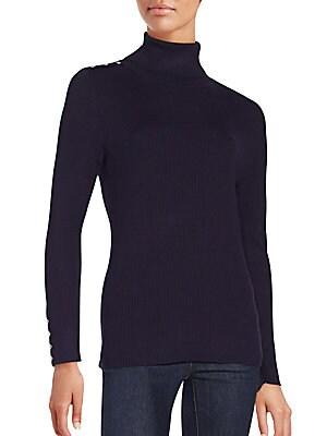 Ribbed Long Sleeve Turtleneck Sweater