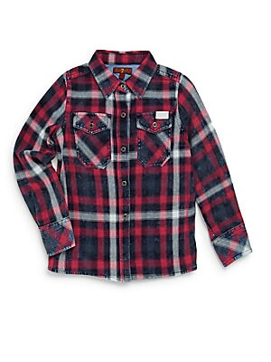 Little Girl's Cotton Button-Front Shirt