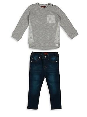 Baby & Toddler's Long Sleeve Tee & Jean Set