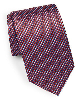 Geometric Pattern Silk Tie