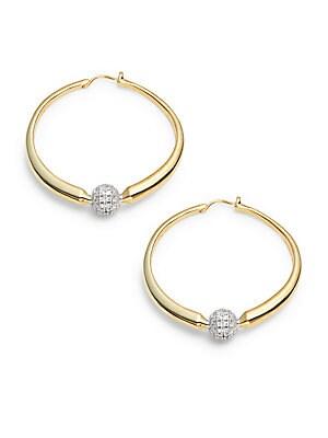 Crystal Hoop Earrings- 1.5in