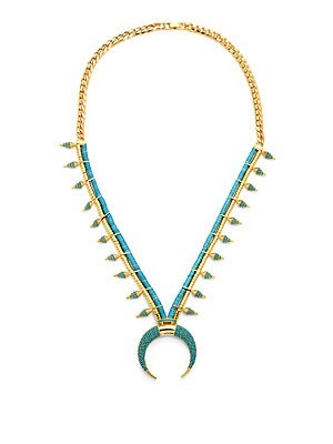 Swarovski Crystal & 18K Gold-Plated Necklace