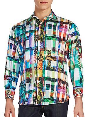 Ernie Bishop Long Sleeve Printed Shirt