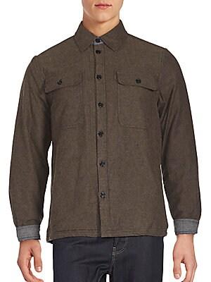 Contrast Cuff Cotton Shirt