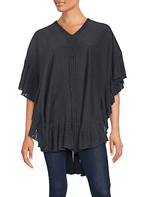 V-Neck Hi-Lo Ruffled Top