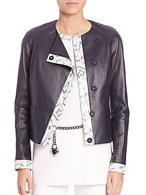Two-Tone Nappa Leather Jacket