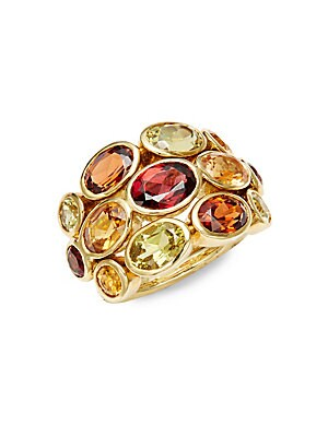 CL Color 18K Yellow Gold Bombe Statement Ring