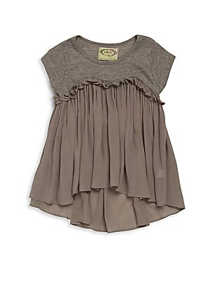 Little Girl's Brianna Knit Ruffled Top