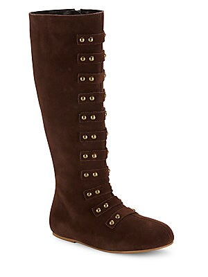 Girl's Freya Leather Knee-High Boots