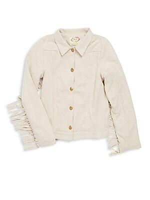 Girl's Carole Fringe Sleeve Jacket