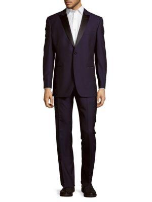 Peak Lapel Wool Tuxedo Ike Evening by Ike Behar