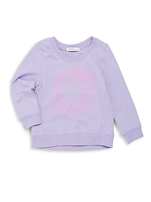 Little Girl's Graphic Front Crew Sweater