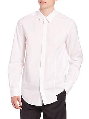 Asymmetrical Stretch Cotton Sportshirt