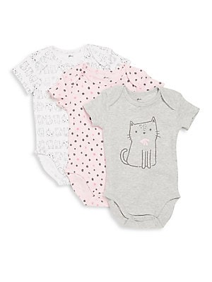 Baby's 3-Pack Printed Cotton Bodysuit