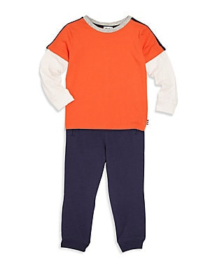 Toddler's & Little Boy's Two-Piece Top & Pants Set