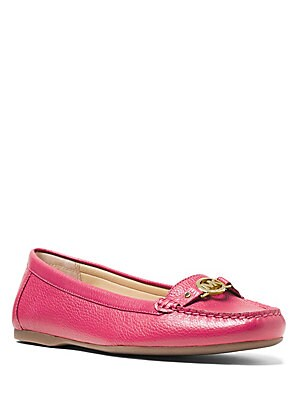 May Tumbled Leather Loafers