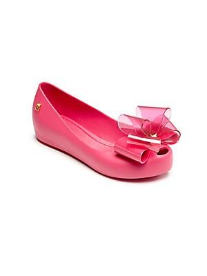 Girl's Ultragirl Sweet Peep Toe Ballet Flats