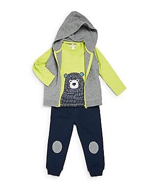 Baby's 3-Piece Vest, Tee & Pant Set