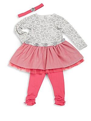 Baby's Dress, Leggings & Headband Set
