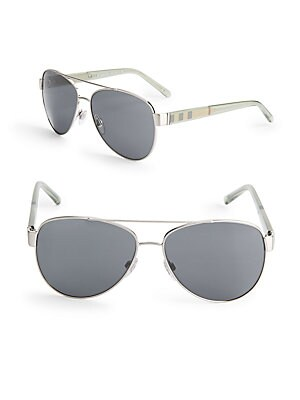 57MM Smoky Aviator Sunglasses
