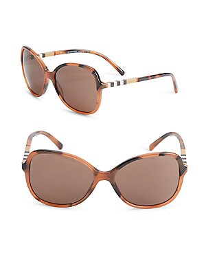 58MM Tortoiseshell Square Sunglasses