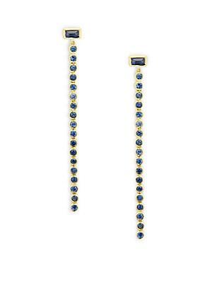 Blue Sapphire in 14KT Gold Jelina Earrings