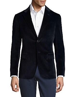 Notch Lapel Velvet Jacket