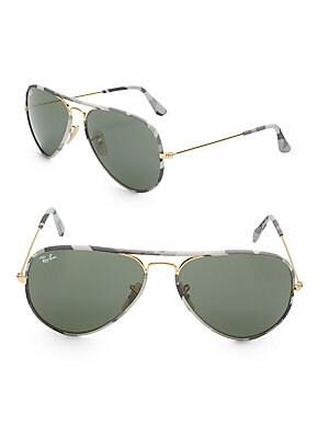 Fabric & Metal Sunglasses