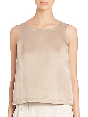 Organic Linen & Silk Shell