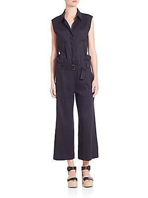Cotton Sleeveless Jumpsuit