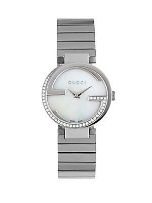 Crystal Studded Round Bracelet Watch