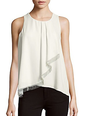 Roundneck Sleeveless Ruffled Top