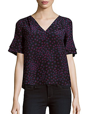 Floral Printed Silk Top