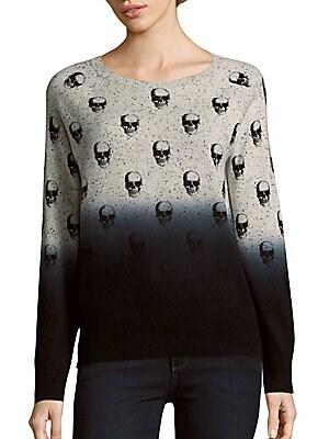 Dip-dye Skull Pullover