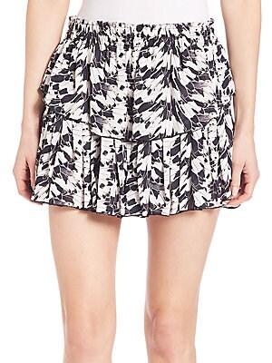 Layered Silk Ruffle Skirt