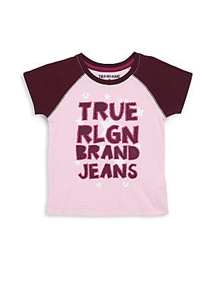 Little Girl's TR Star Raglan Tee