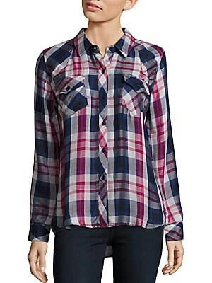 Kendra Plaid Button Down Shirt