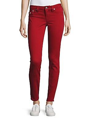 Cotton Blend Solid Legging Jeans