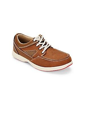 Boy's Leather Moc Toe Sneakers