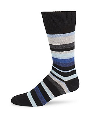 Striped Cashmere-Blend Socks