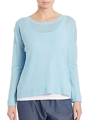 Organic Dropped-Shoulder Sweater