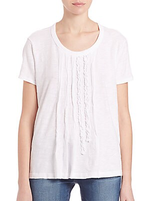 Short Sleeve Ruffled Top
