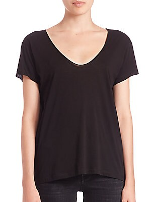 Cotton & Cashmere Scoopneck Tee
