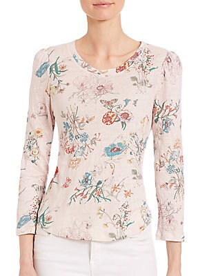 Meadow Jersey Floral-Print Top
