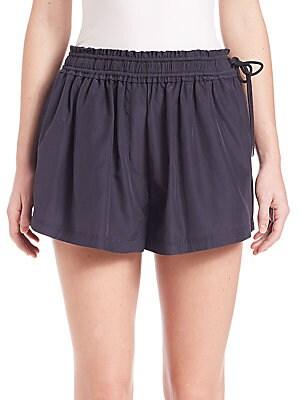 Silk-Blend Cheeky Shorts